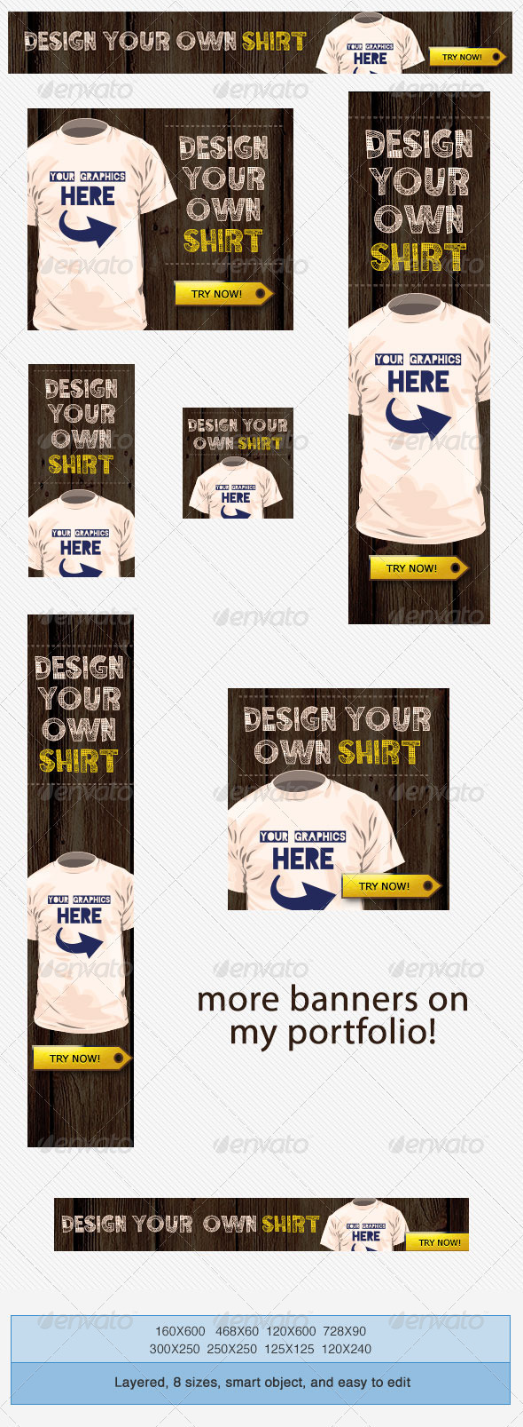 T Shirts Design Banner Ad Template - Banners & Ads Web Elements