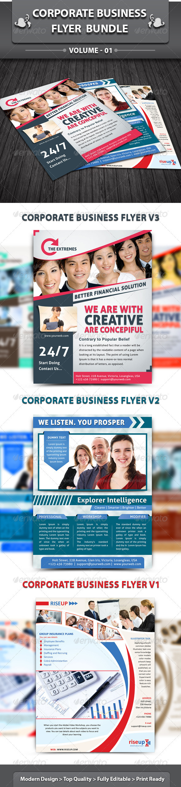 Corporate Business Flyer | Bundle 1 - Corporate Flyers
