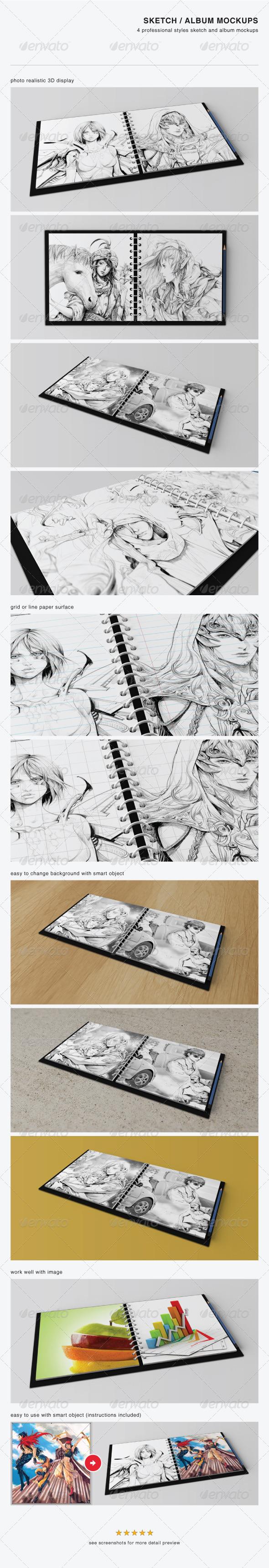Sketch / Album Mockups - Miscellaneous Print