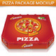 Pizza Package Mockup - GraphicRiver Item for Sale