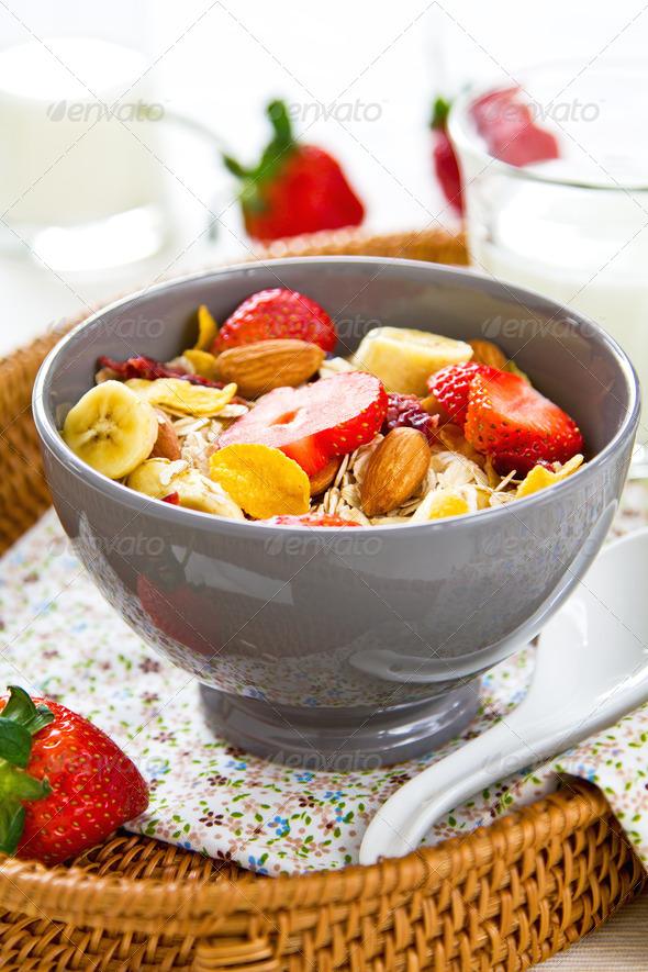 Muesli breakfast - Stock Photo - Images