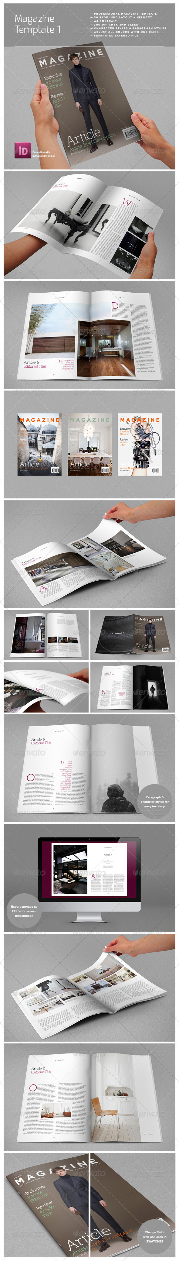 Magazine Complete Template - Magazines Print Templates