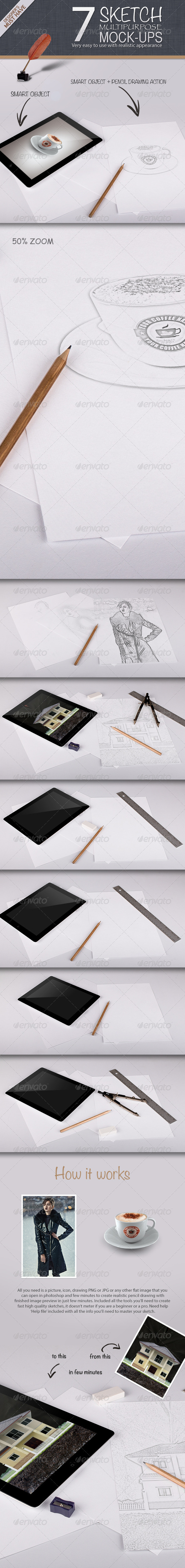 Sketch Multipurpose Mock-ups - Miscellaneous Print