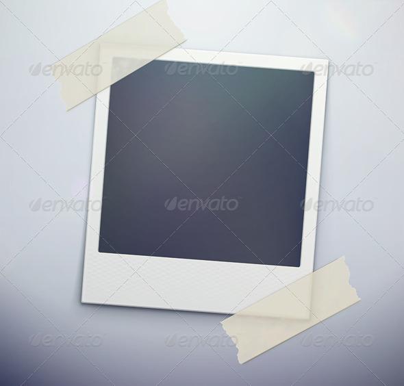 retro polaroid photo frame - Borders Decorative