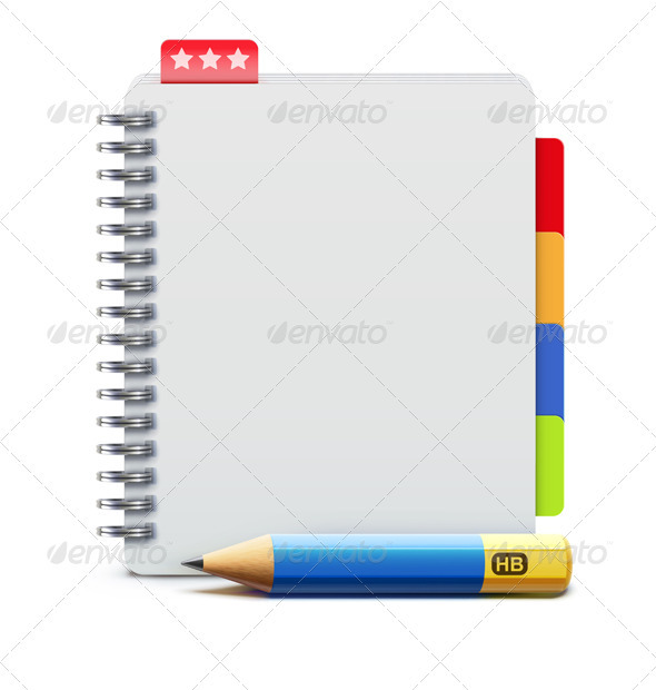 spiral notebook - Objects Vectors