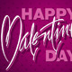Happy Valentine's Day Hand Lettering Vector - GraphicRiver Item for Sale