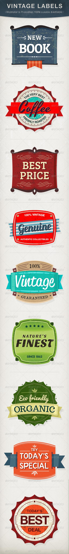 Vintage Labels - Badges & Stickers Web Elements