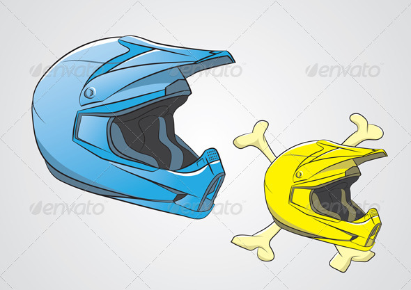 Helmets Motocross - Sports/Activity Conceptual