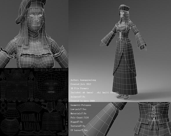 Medieval European clothing 02 - 3DOcean Item for Sale