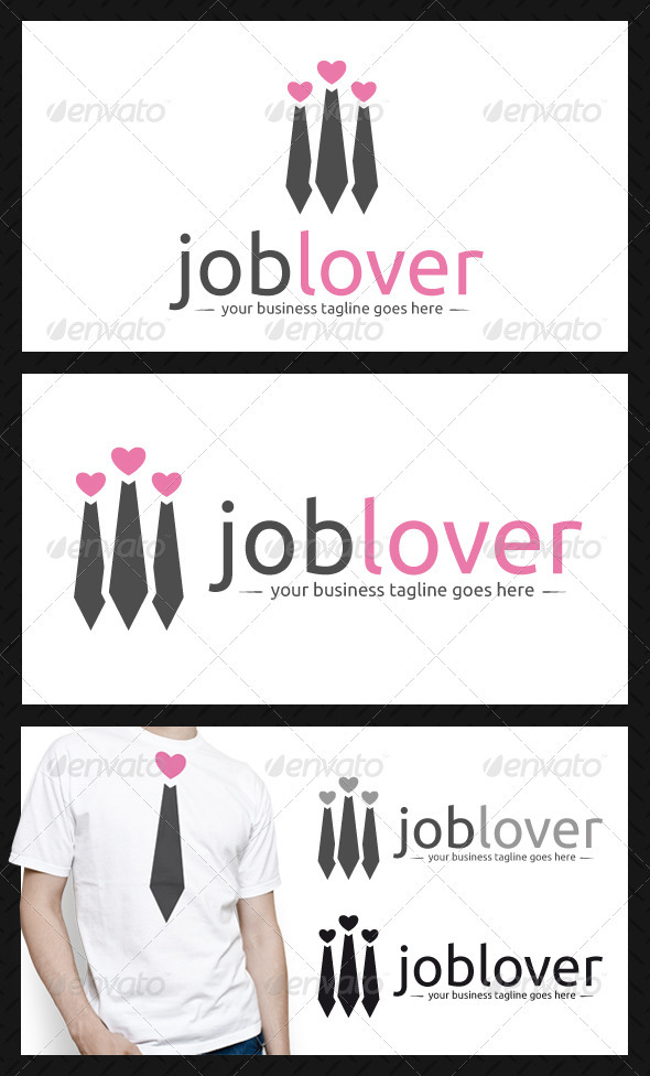 Job Lover Logo Template - Humans Logo Templates