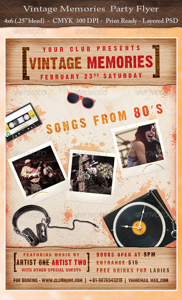 Vintage Memories-Party Flyer - Clubs & Parties Events