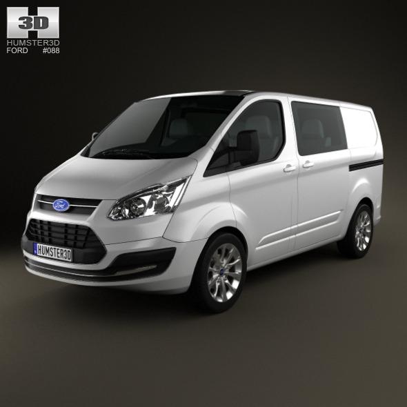 Ford Transit Custom Crew Van SWB 2013 - 3DOcean Item for Sale