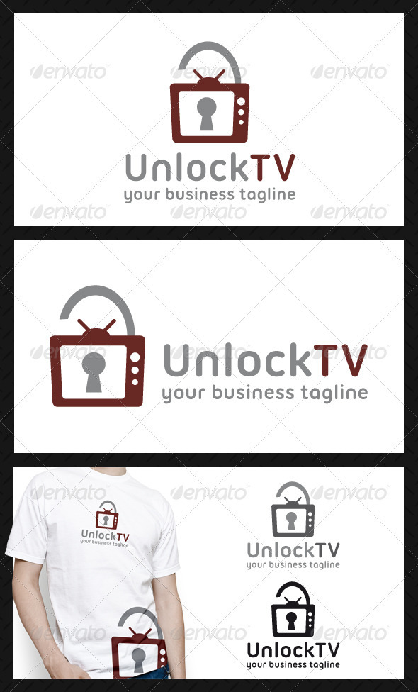 Unlock Tv Logo Template - Objects Logo Templates