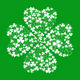 Vector Green Greeting Card with Clover Shamrock  - GraphicRiver Item for Sale