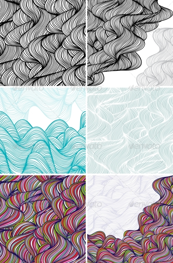 Abstract Wave Patterns and Backgrounds. - Patterns Decorative
