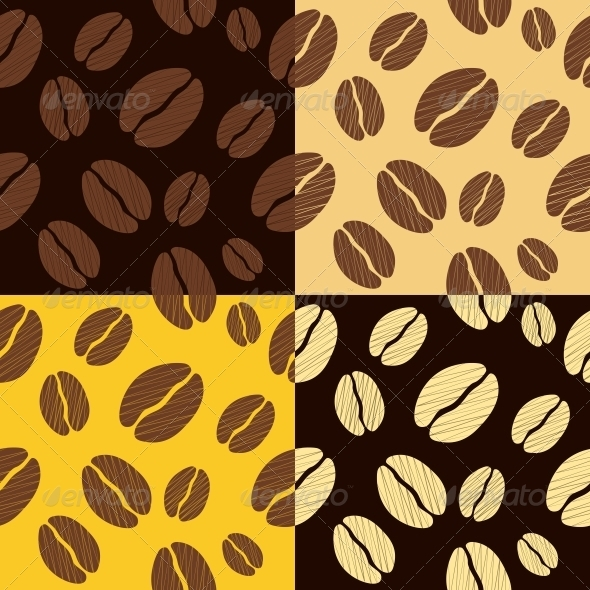 Coffee Beans Seamless Pattern Background - Patterns Decorative