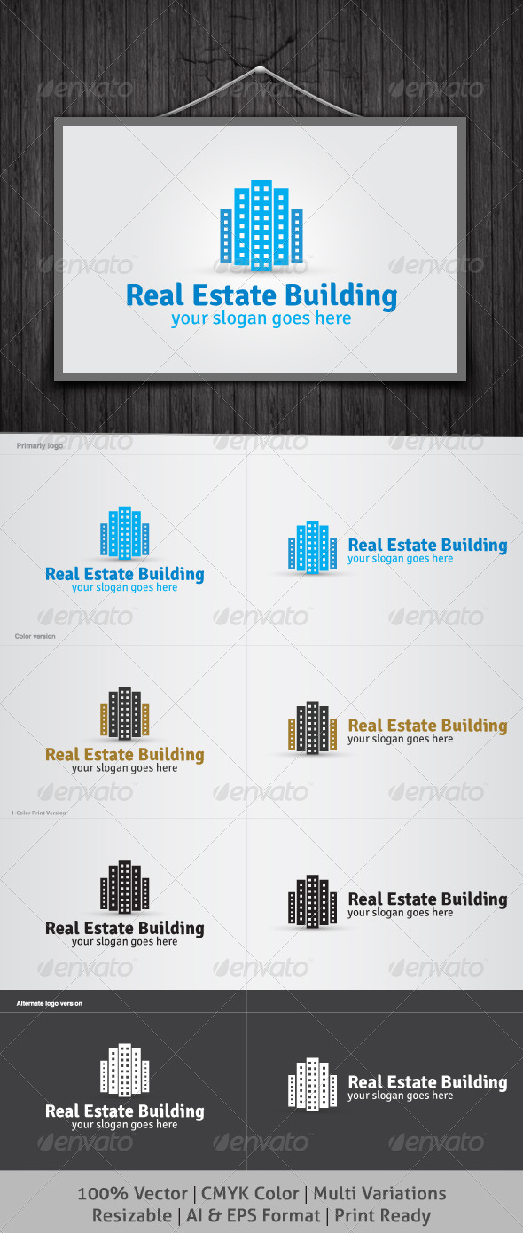 Real Estate Building Logo - Buildings Logo Templates