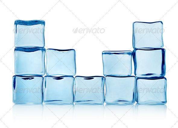 Figures from ice cubes - Stock Photo - Images