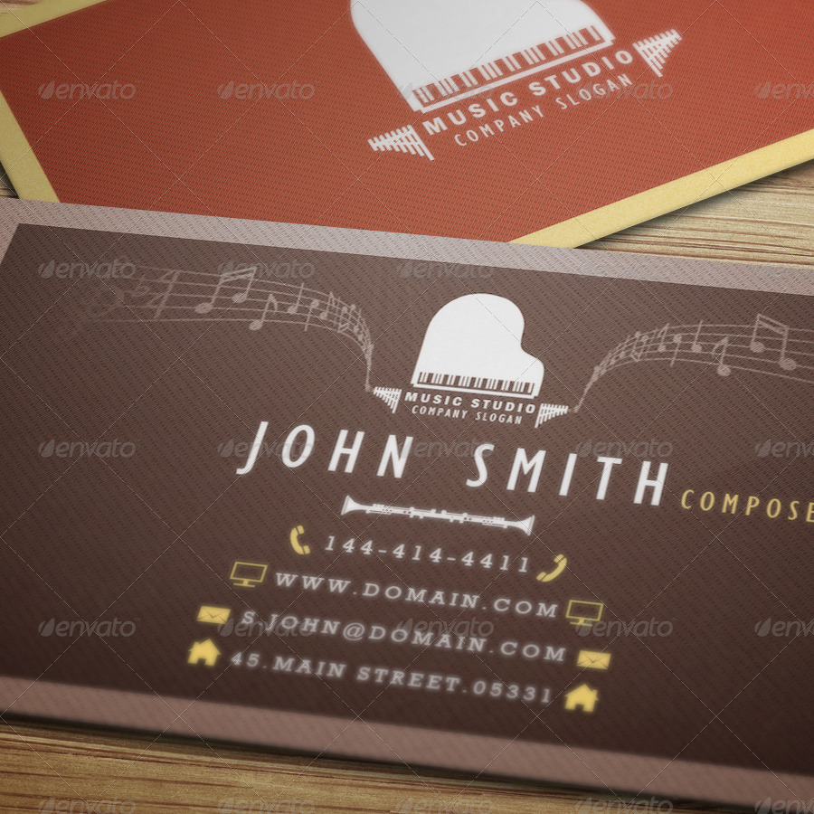 Music Studio - Business Card by VectorMedia | GraphicRiver