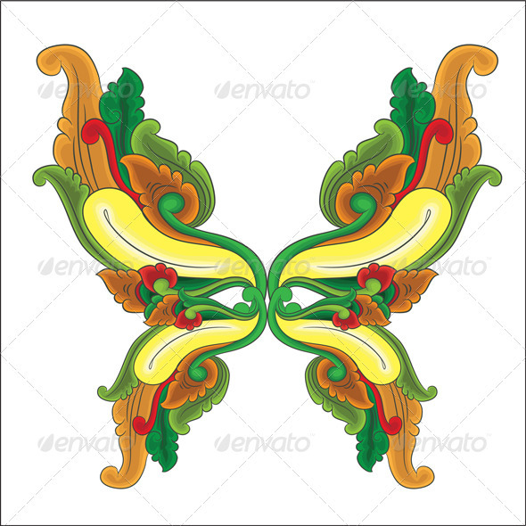 Butterfly Ornament - Decorative Symbols Decorative