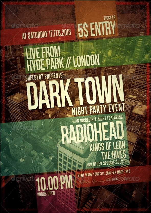 Music Event Flyer / Poster Template by Shelby67 | GraphicRiver