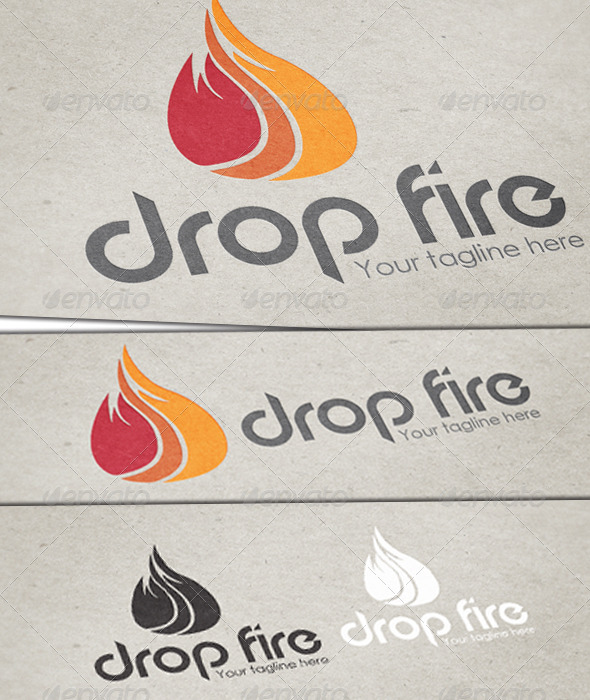 Drop Fire Logo Template - Nature Logo Templates