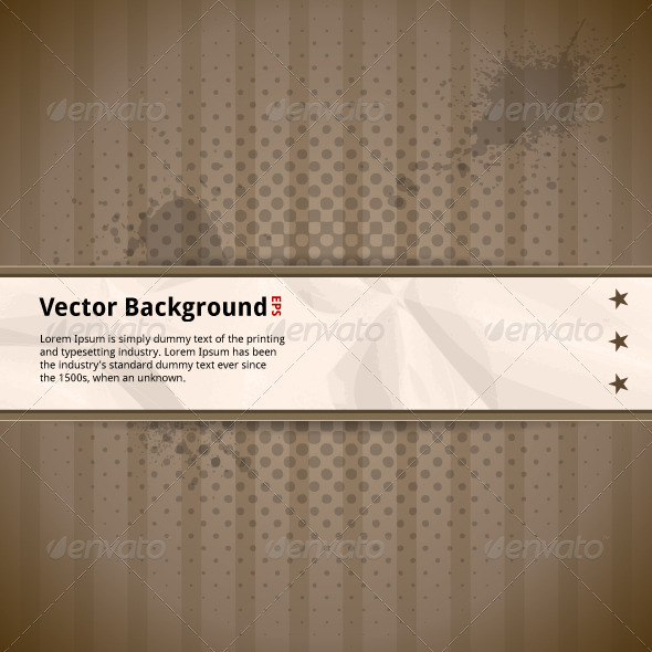 Retro Background with Crumpled Paper - Backgrounds Decorative