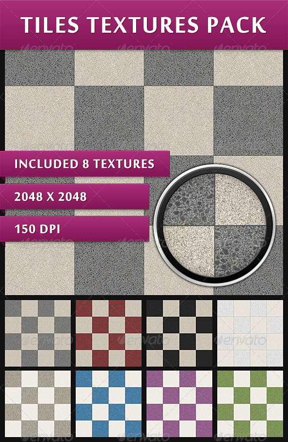 Tiles Textures Pack - Stone Textures