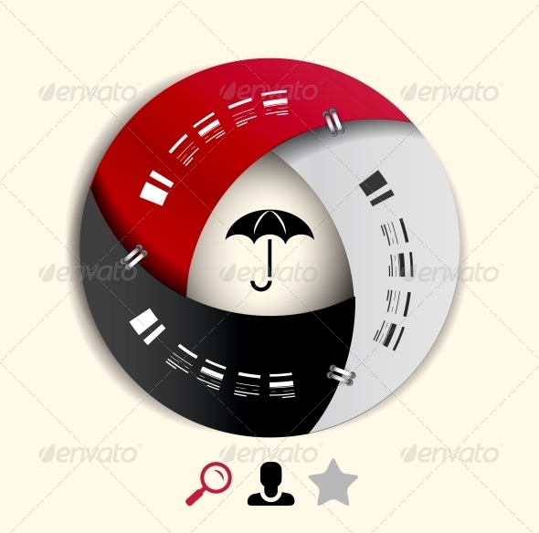 Modern Round Infographic Design Template - Web Elements Vectors