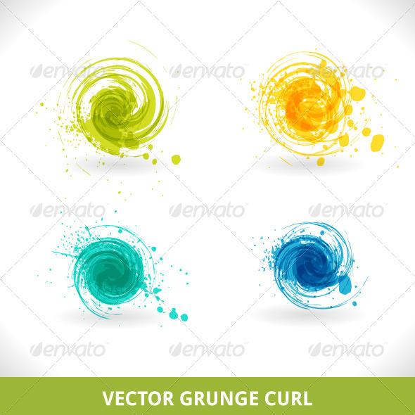 Grunge Curl - Decorative Symbols Decorative