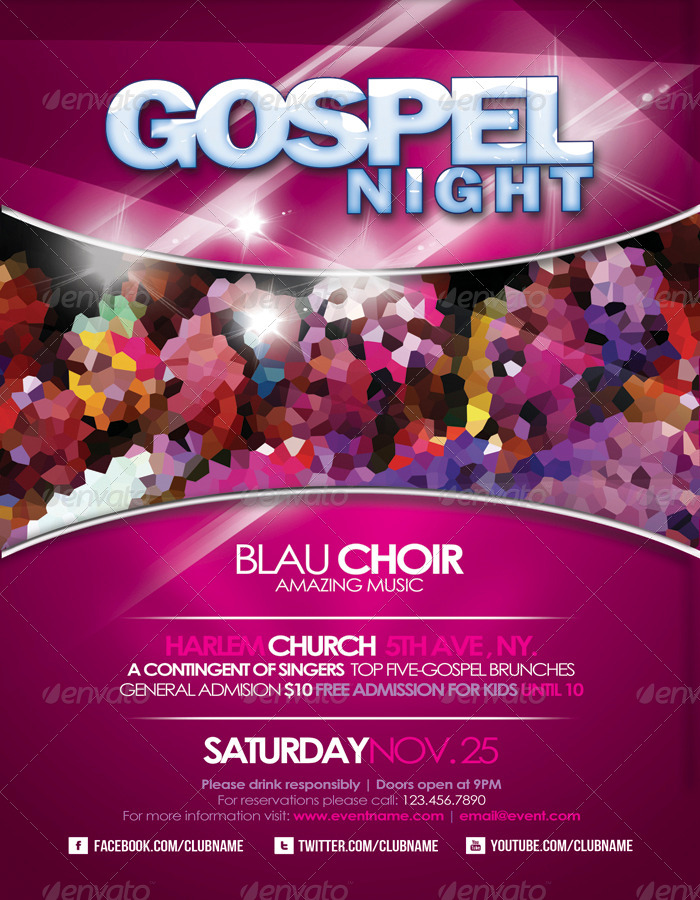 gospel flyer template free