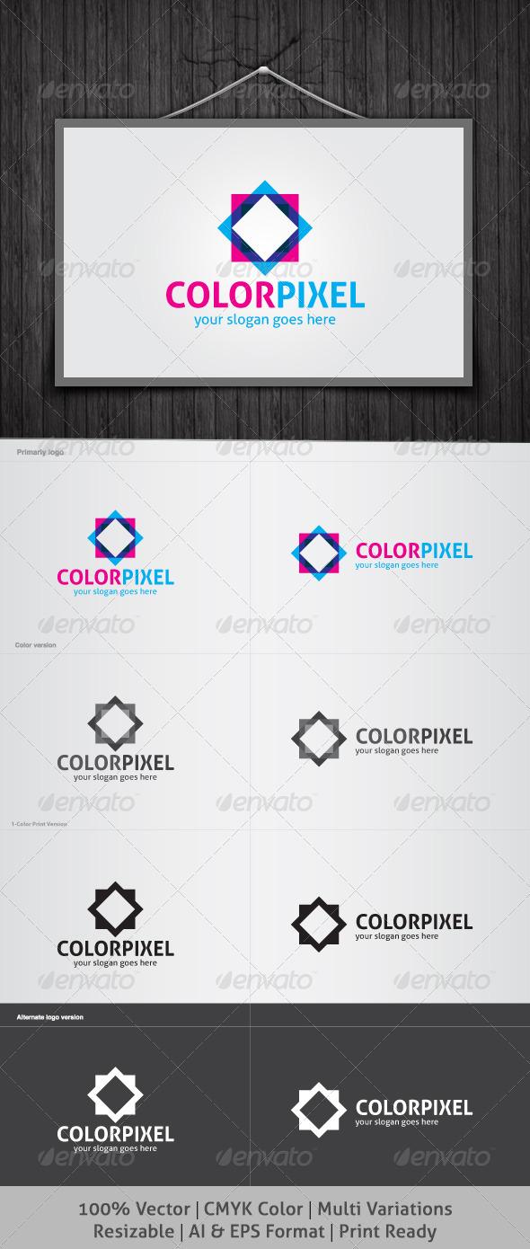 Color Pixel Logo - Abstract Logo Templates