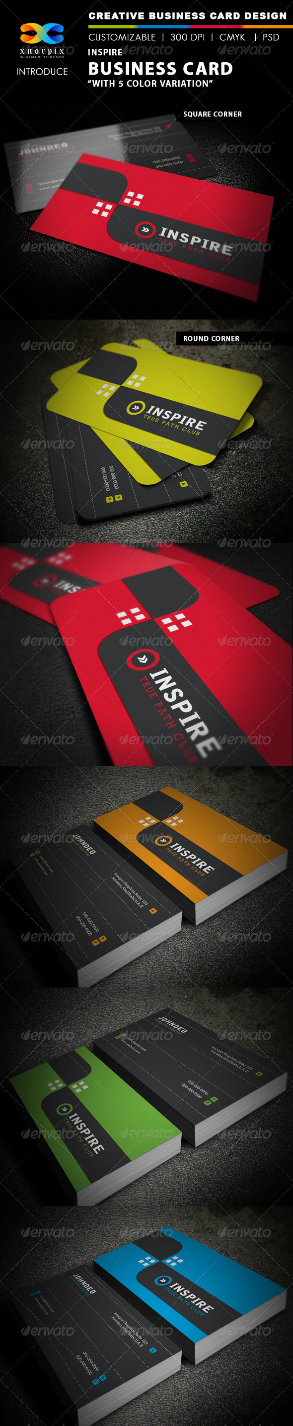 Inspire Business Card - Corporate Business Cards