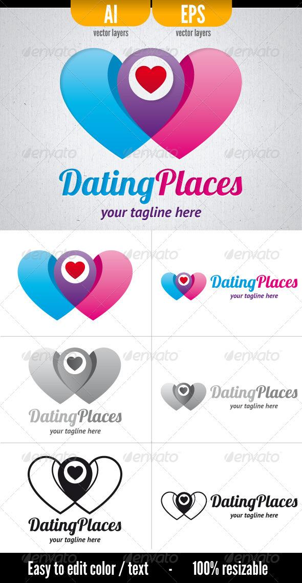 Dating Places Logo - Symbols Logo Templates