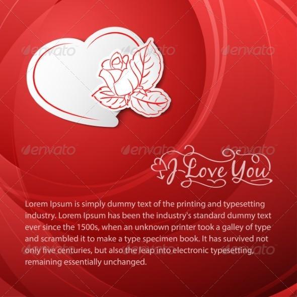 I love you. Valentine's Day Card. - Conceptual Vectors