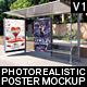 Realistic Bus Stop Flyer Poster Mockup 01 - GraphicRiver Item for Sale