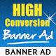 High Conversion Banner Ad PSD Template - GraphicRiver Item for Sale