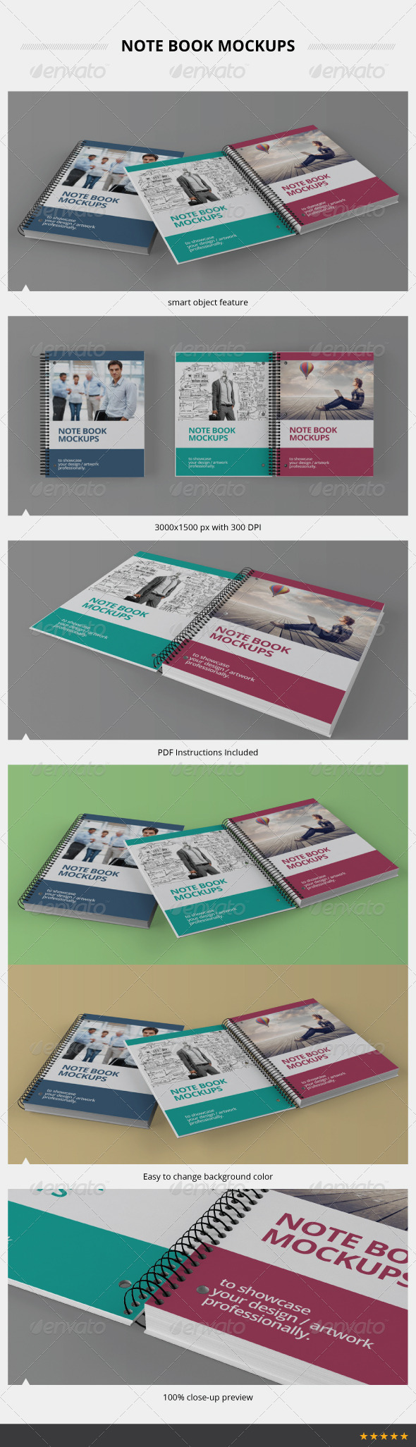 Note Book Mockups - Books Print