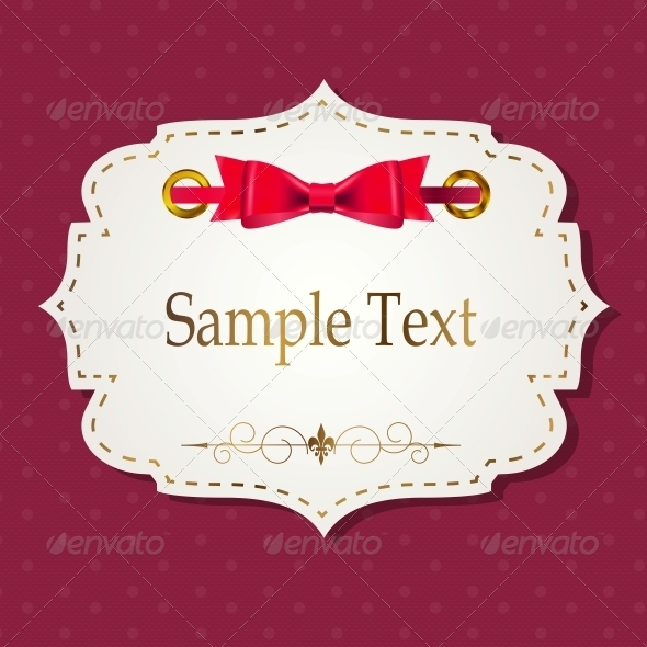 Gift Card with Ribbons Vector - Miscellaneous Vectors