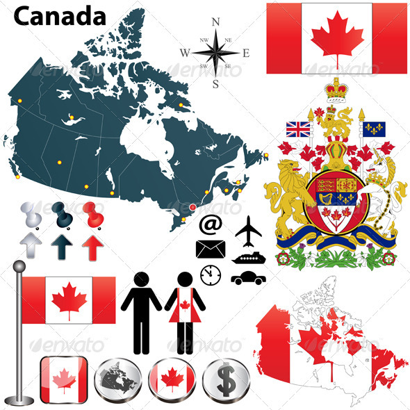 Canada Map - Travel Conceptual