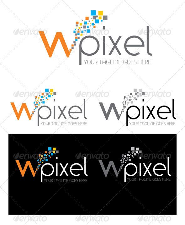 W Pixel Logo Template - Logo Templates