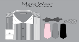 Mens Wear Flat Vectors