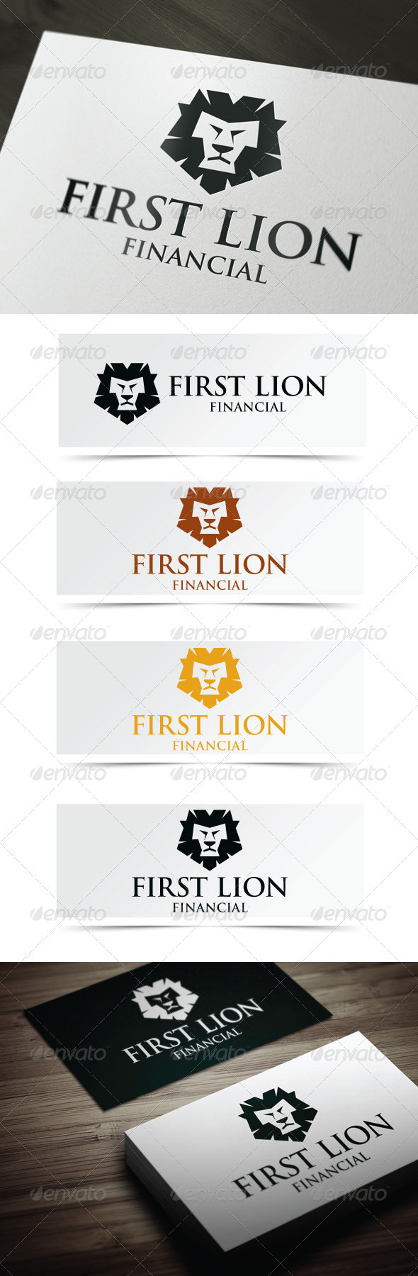 First Lion - Animals Logo Templates