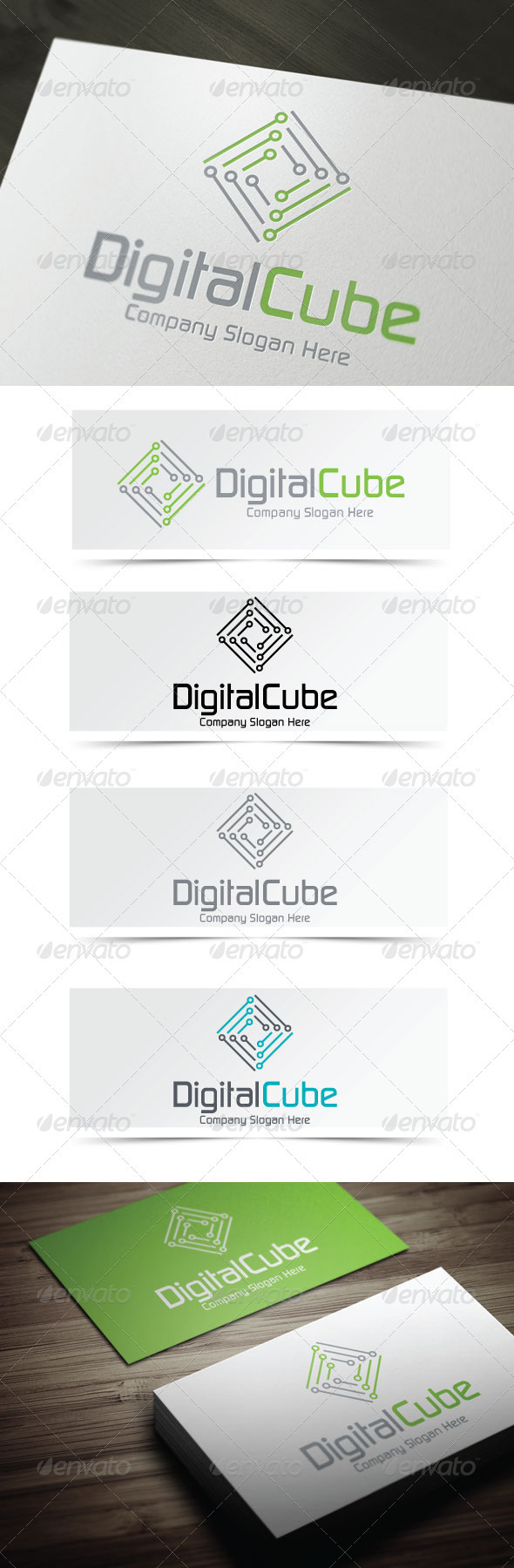 Digital Cube - Abstract Logo Templates