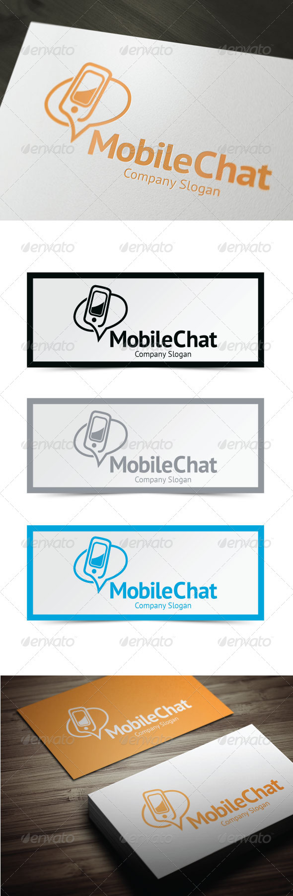 Mobile Chat - Symbols Logo Templates