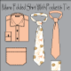 Men's Wear Folded Shirt With Tie Vector - GraphicRiver Item for Sale