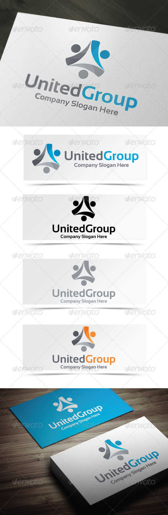 United Group - Humans Logo Templates