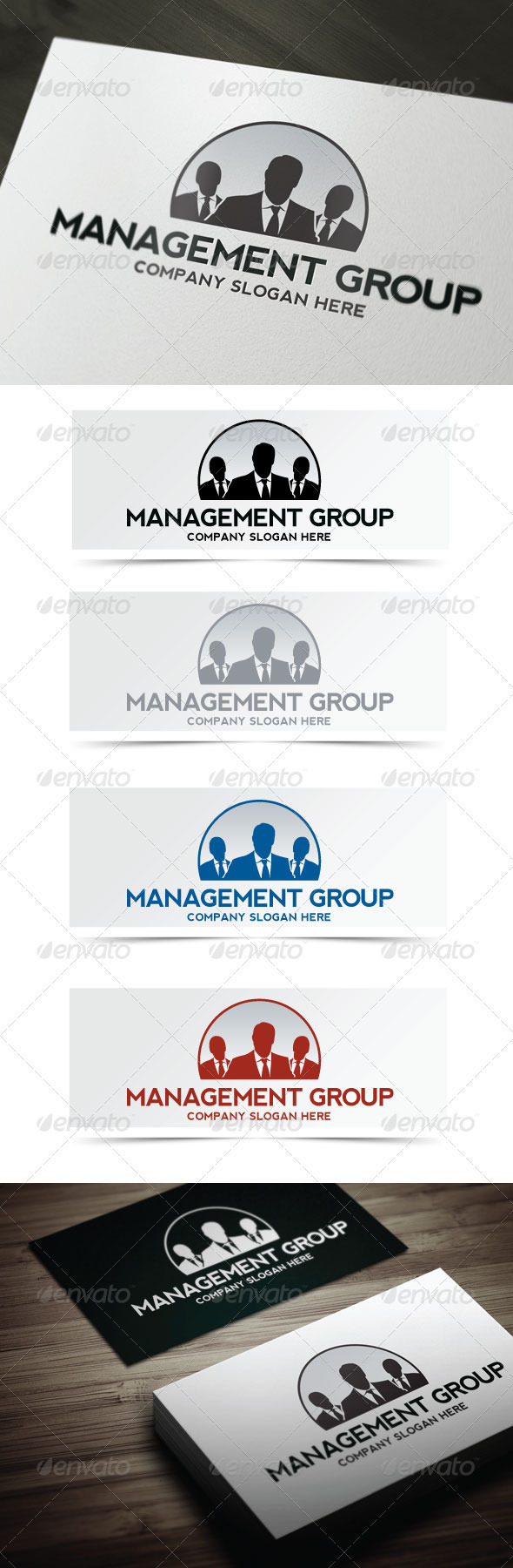 Management Group - Humans Logo Templates