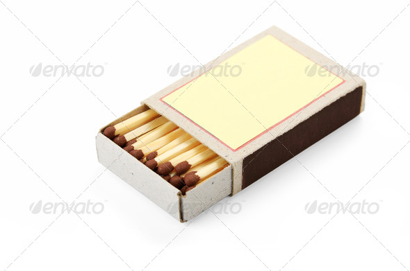 open box of matches - Stock Photo - Images