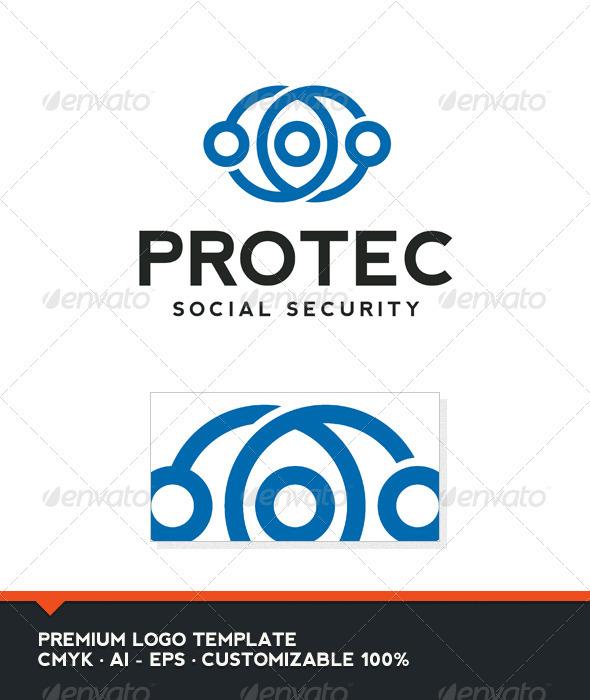 Protec Logo Template - Vector Abstract